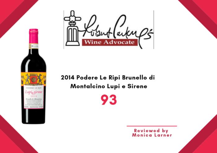 Lupi e Sirene 2014 Wine Advocate review