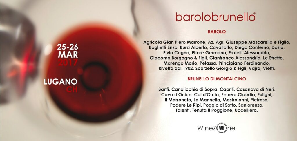 A wine tasting with 40 producers of Barolo and Brunello di Montalcino