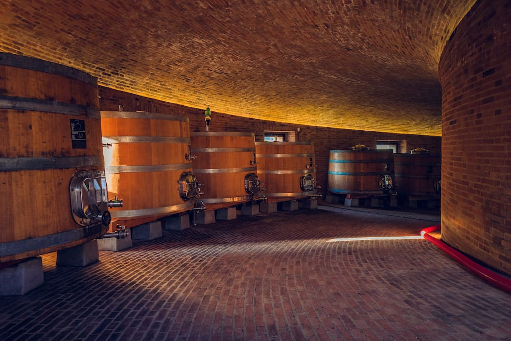 Montalcino Wine aeging in the Golden Cellar