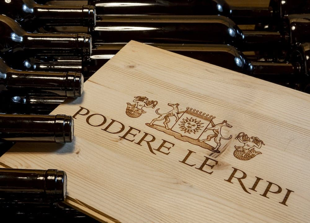 Podere Le Ripi's Montalcino wines refining in the bottle