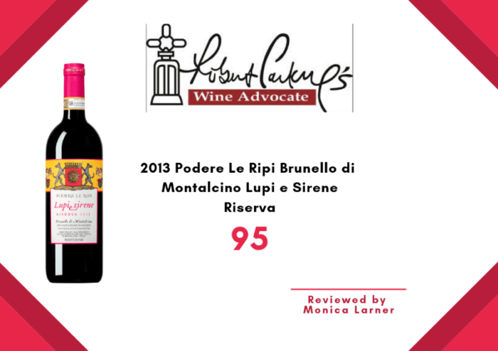 Lupi e Sirene 2013 Wine Advocate review
