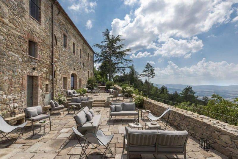 The main terrace at Monteverdi