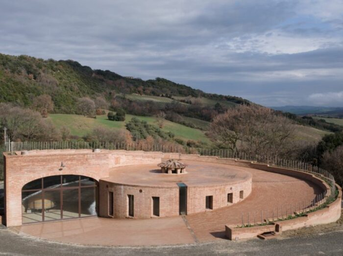 The Golden Cellar at Podere Le Ripi Winery in Montalcino