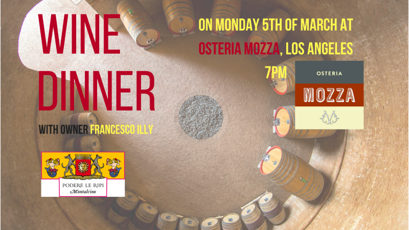 Wine Dinner at Mozza in Los Angeles